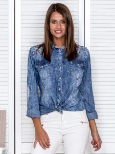koszule dżinsowe damskie